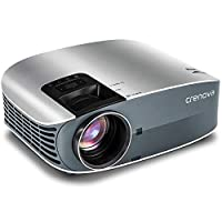 "HD Projector, 2018 Upgraded (+80% Brightness) Crenova 200"" 1080P HD Home Portable Video Projector PC/MAC/TV/DVD/Movies/Games/Outdoor USB/Micro SD/AV/HDMI/VGA Input"