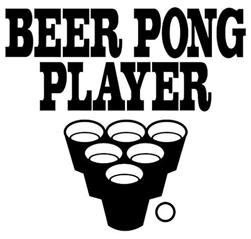 Beer Pong Player - Sticker Graphic - Auto, Wall, Laptop, Cell, Truck Sticker for Windows, Cars, Trucks