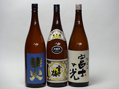 特選日本酒セット 雪中梅 安達本家(三重)スペシャル3本セット(本醸造)(華火 富士の光純米)1800ml×3本  B014COY1FY