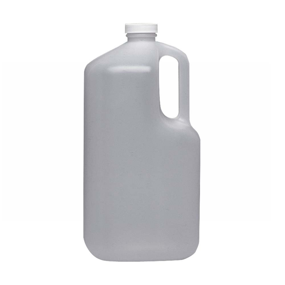 Wheaton 222333 HDPE Square 1 gallon Jug Bottle, with 38-400 White Polypropylene Screw Cap (Case of 4) by Wheaton