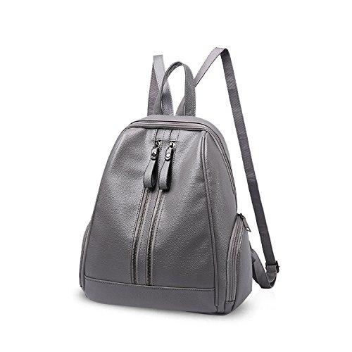 Leather Satchel Schoolbag Purse PU NICOLE Daypack Bag Pink Travel Shoulder Backpack Girls amp;DORIS Fashion Rucksack Gray zqEEwfO
