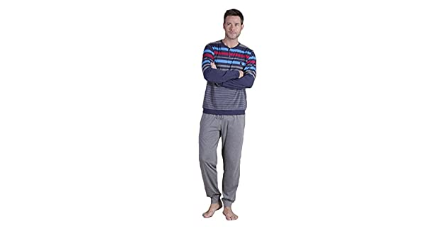 Amazon.com: Massana - LONG SLEEVES MASSANA PYJAMA THIN COTTON - Dark blue, S: Clothing