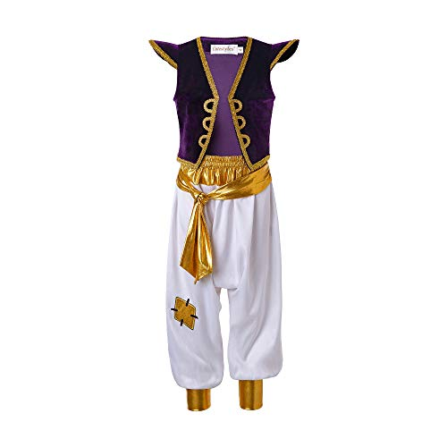 Kids Aladdin Costume (Pettigirl Boys Arabian Prince Costume Street Rat Suits)