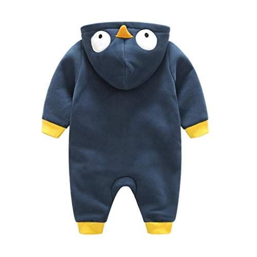Omiky® Kleinkind Neugeborene Baby Jungen Mädchen Tier Cartoon Hoodie Spielanzug Outfits Kleidung Marine