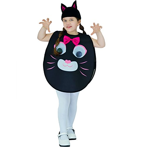 Cute Kid Cat Costumes (Kid's Cute Cat Animal Costume One Size Fits 4-9Y)