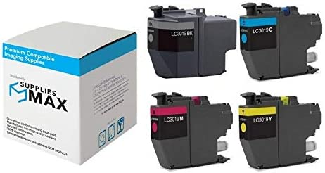 SuppliesMAX Compatible Replacement for Brother MFC-J5330//J5335//J5730//J76530//J6830DW Super High Yield Inkjet Combo Pack BK//C//M//Y LC-3319VALBP