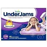 Pampers UnderJams Absorbent Nightwear Size 7, Big Pack Girl (92 Count)