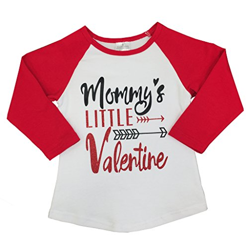 Boutique Clothing Girls Valentine Raglan T-Shirt 4T Mommy's Little Valentine M (Little Girl Boutique)