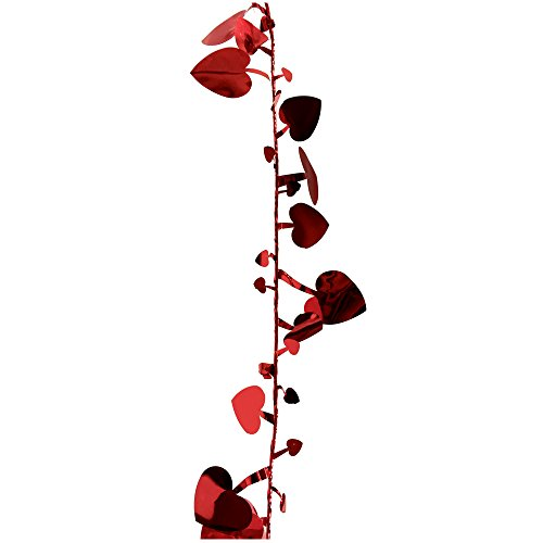 Brite Star Tinsel Set of 3, 9inc Heart Wire Garland