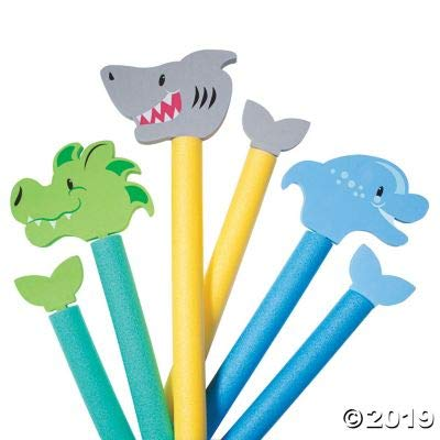 Fun Express Foam Water Animals for Pool Noodle - Toys - 6 Pieces: Toys & Games