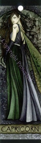Jessica Galbreth Zodiac Sign Bookmark Fairy Faery Capricorn - Jessica Galbreth Zodiac Sign