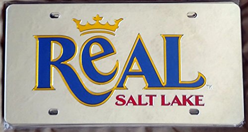 Real Salt Lake Deluxe Silver Laser Cut Etch In-Laid License Plate Tag MLS Soccer Football Club by Stockdale