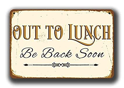 office closed for lunch sign