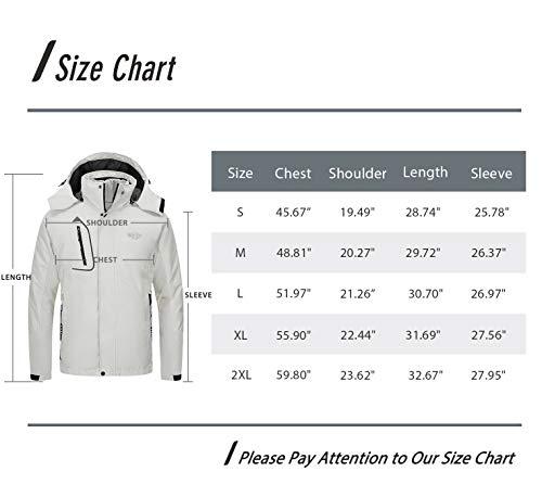 Wantdo Men's 3 in 1 Waterproof Ski Jacket Warm Winter Snow Coat Puffer Rain Jacket