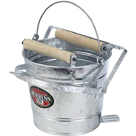 Behrens Galvanized Mop Bucket with Rollers, 3-Gallon Behrens Manufacturing Company 412W