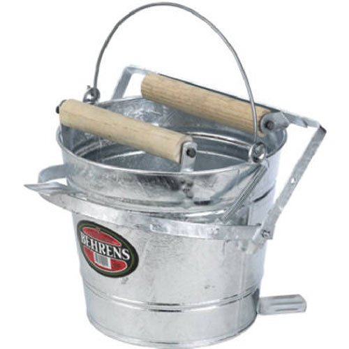 Behrens Galvanized Mop Pail with Rollers, 3-Gallon