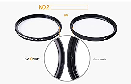 K/&F Concept 52mm Slim CPL Filtro circolare di polarizzatore per Nikon D5200 D5100 D3200 D3100 per Nikon D5300 D5200 D5100 D3300 D3200 D3100 DSLR Camera Panno per lente di pulizia