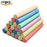 Blackboard Chalk Colored Dustless Chalk Sidewalk Chalk Non-Toxic Chalk Multicolored Chalk Washable Chalk 100 Count for Home Office Classroom School in Toys and Games (100 ct box)