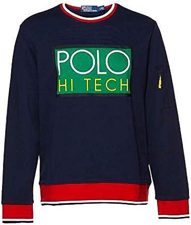 Polo Ralph Lauren Sudadera Hi Tech Azul XL Marino: Amazon.es: Ropa ...