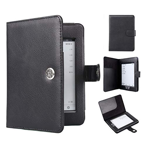 Huasiru PU Leather Case for Kindle Touch (2011 Released), Black