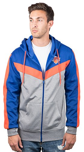 New York Knicks Men s Full Zip Hoodie Sweatshirt Jacket Back Cut ba24bf9b2