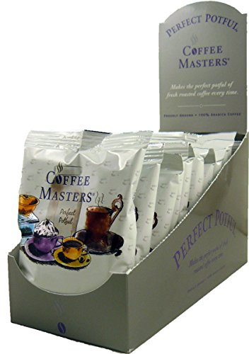 Coffee Masters Perfect Potful Almond Amaretto Ground Coffee, 1.5-Ounce Packets (Pack of 12)