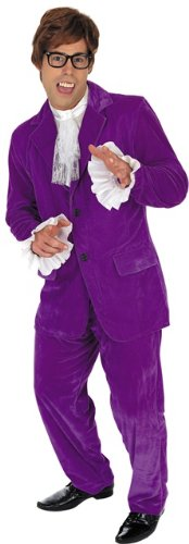Austin Powers Costumes (Austin Powers Male Fancy Dress Costume - Size L (Chest 42-44in))