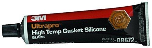 - 3M 08672 Ultrapro Black High Temp Silicone Gasket Tube - 3 oz.
