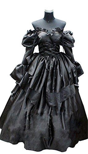 [Mtxc Women's Code Geass: Lelouch of the Rebellion Cosplay C.C. Dress Size X-Large Black] (Cc Code Geass Costumes)