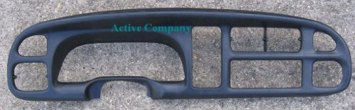Full Replacement 1998-2001 1999 2000 Dodge Ram 1500 Dash Bezel dashboard instrument cluster gauge trim radio dash board surround + Clips - 1998-2002 Dodge Ram 2500 3500 pickup truck -by Active Company (Dodge Ram Speedometer)