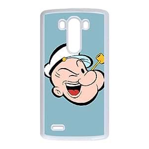LG G3 Cell Phone Case White Popeye the sailor punl