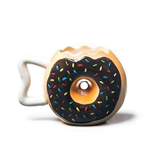 BigMouth Inc The Original Donut Mug, Ceramic 14oz,ChocolateFrosting with Sprinkles, Funny Coffee, Tea, Hot Chocolate Mug Gift