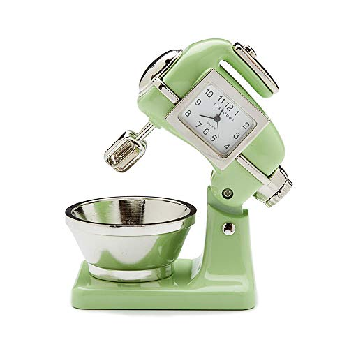 Red Co. Miniature Old Fashioned Kitchen Mixer, Novelty Desk Table Desktop Collectors Clock - 3