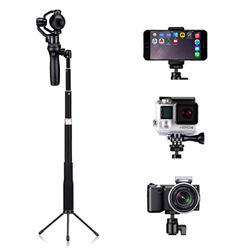 AxPower Light Aluminum Selfie Stick Monopod Telescope Pole with Tripod Stand for DJI OSMO Mobile 2 GoPro 4 5 6 7 and Cellphones