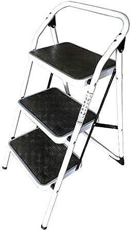 Bresme Escalera Taburete Plegable - Escalera de Acero con 3 Peldaños Muy Resistente y Cómoda con Seguridad Anticierre. Dimensiones: 90 x 46 x 45 centímetros.: Amazon.es: Oficina y papelería