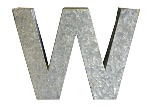 Modelli Creations Alphabet Letter W Wall Decor, Zinc by Modelli Creations