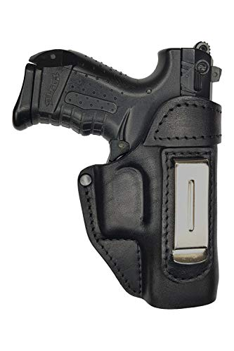 VlaMiTex IWB 2 Leather Holster for Walther P22 / CCP / PK380 / Ruger SR22 Black