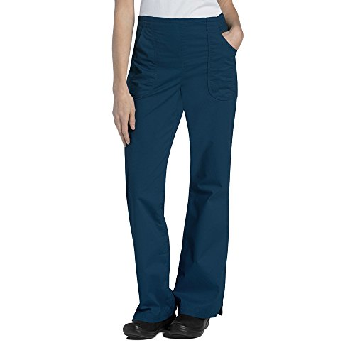Ladies Flat Front Scrub Pants (Pre-Washed By Landau Women's Flat Front Cargo Scrub Pant Small Petite Navy)
