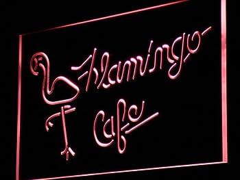 FLAMINGO Cafe Bar Beer LED Sign Neon Light Sign Display j088-r(c)