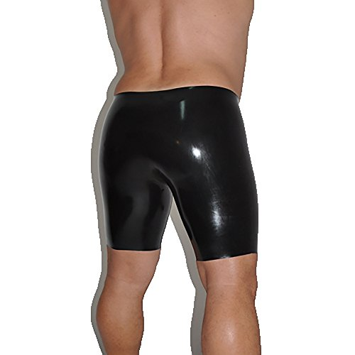 New Mens Leather Pants - Brand New Latex Rubber Gummi Shorts Short Pants Trousers Black (one size)