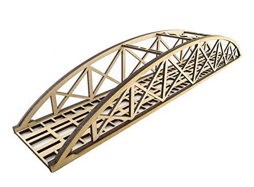 (War World Scenics Single Track Low-Detail Bowstring Bridge 560mm – OO/HO Model Railway Diorama)