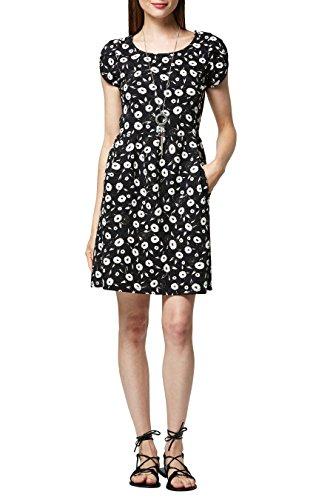 next Mujer Vestido Estampado Texturizado Petite Negro