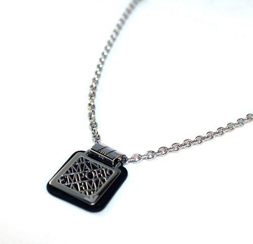 Emporio Armani Leather Signature Pendant Necklace EGS1494