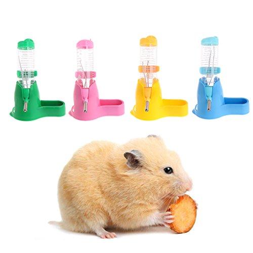 Pet Water Bottle,NNDA CO 3 in 1125ml Hamster Rest Dispenser Base Hut Food Water Bottle Holder Small Pet Nest - Hut Water