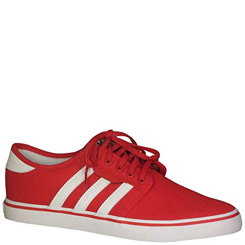 White Red Mens Shoes - adidas Men's Seeley Skate Shoe,Scarlet/White/Black,10 M US