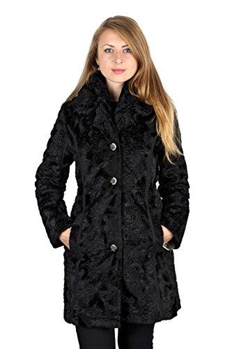 Laundry By Shelli Segal Black Faux Fur Reversible 3/4 Plus Size Coat (2X)