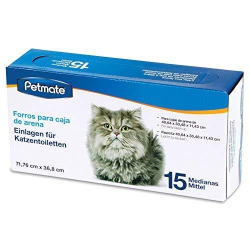 Petmate Boxed Cat Litter Pan Liners 15 Count Medium (Liner Petmate)