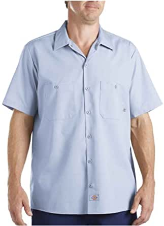 Dickies Men's 4.25 oz. Industrial Short-Sleeve Work Shirt - LIGHT BLUE - 5XL