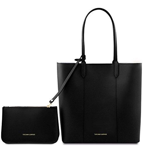 100% Garantizó El Precio Barato Salida Barata Tuscany Leather Dafne Borsa shopper in pelle Talpa chiaro Nero Suministro Gratuito De Envío OtIwJx918