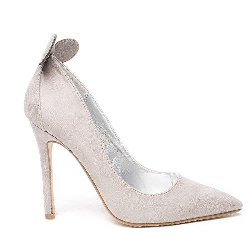 ... Ideal Shoes, Damen Pumps Grau ...